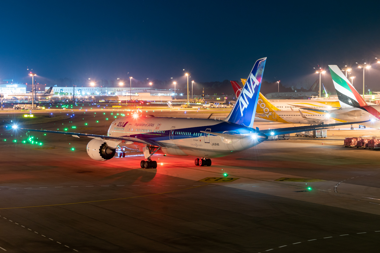 Photo of JA814A - All Nippon Airways Boeing 787-8 at SIN