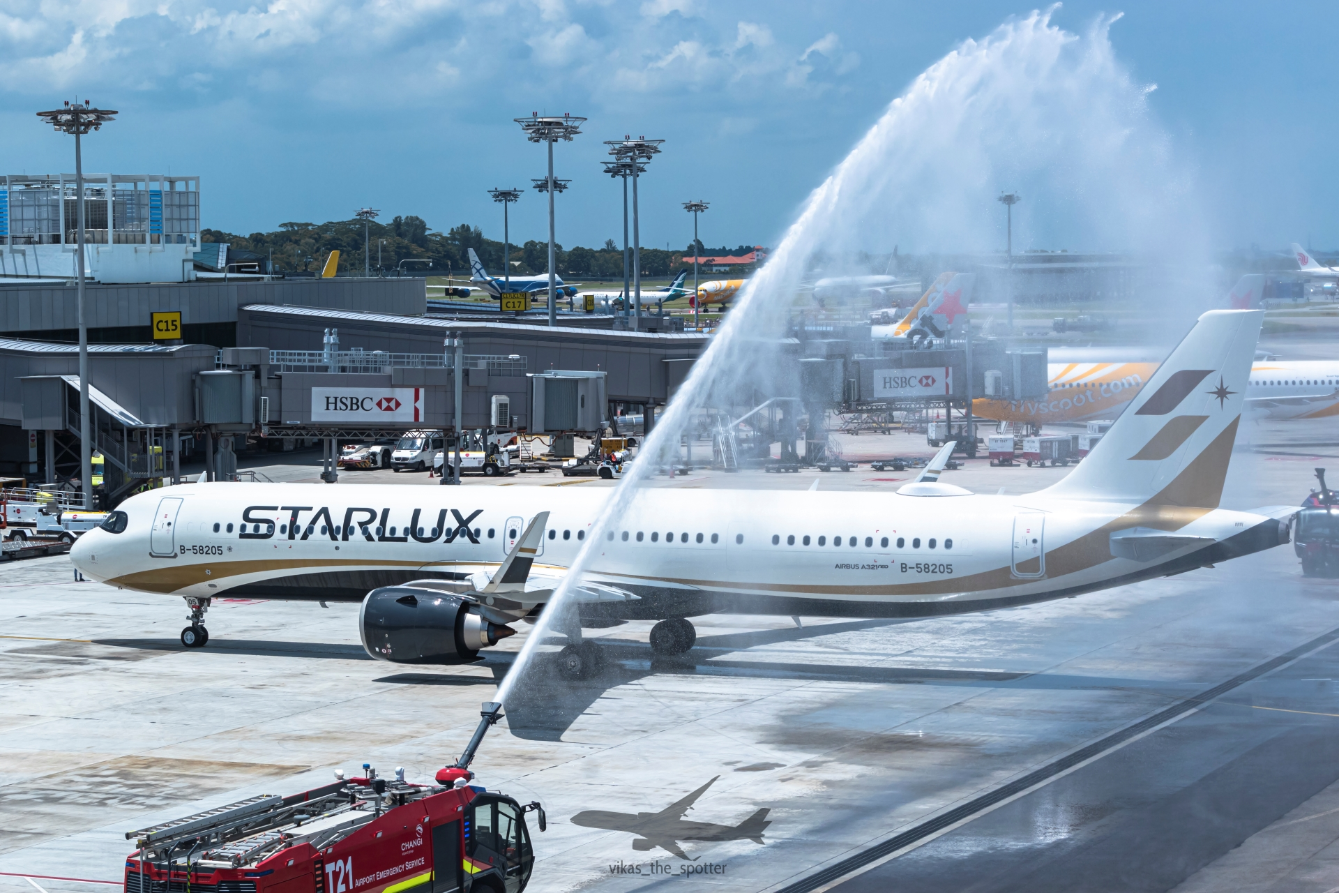 Photo of B-58205 - Starlux Airlines Airbus A321NEO at SIN
