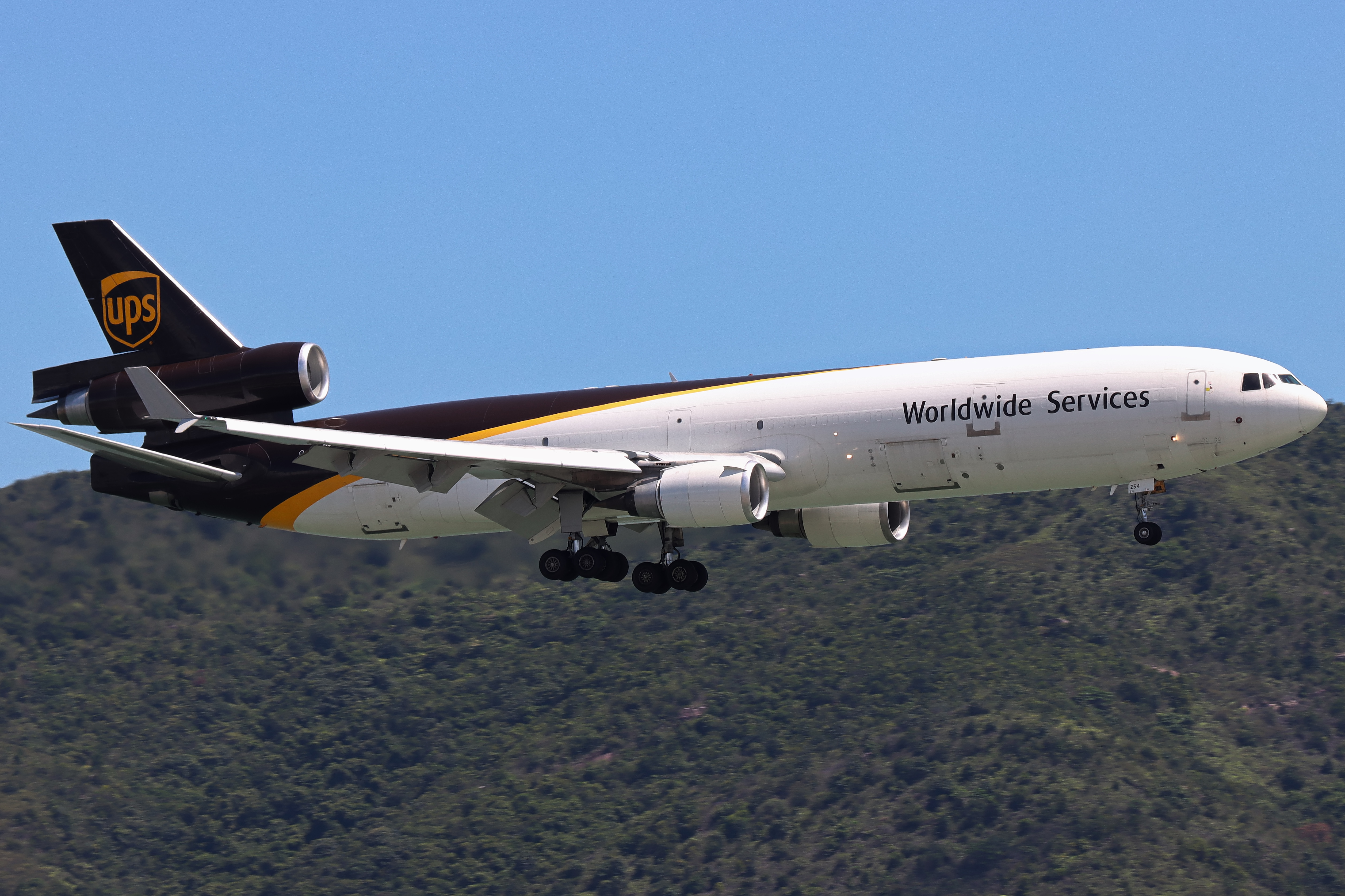 Photo of N254UP - United Parcel Service McDonnell Douglas MD-11F at HKG