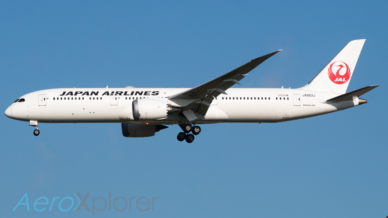 Photo of JA863J - Japan Airlines Boeing 787-9 at DFW