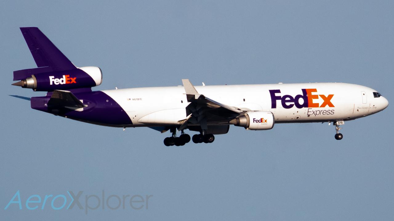 Photo of N619FE - FedEx McDonnell Douglas MD-11F at DFW