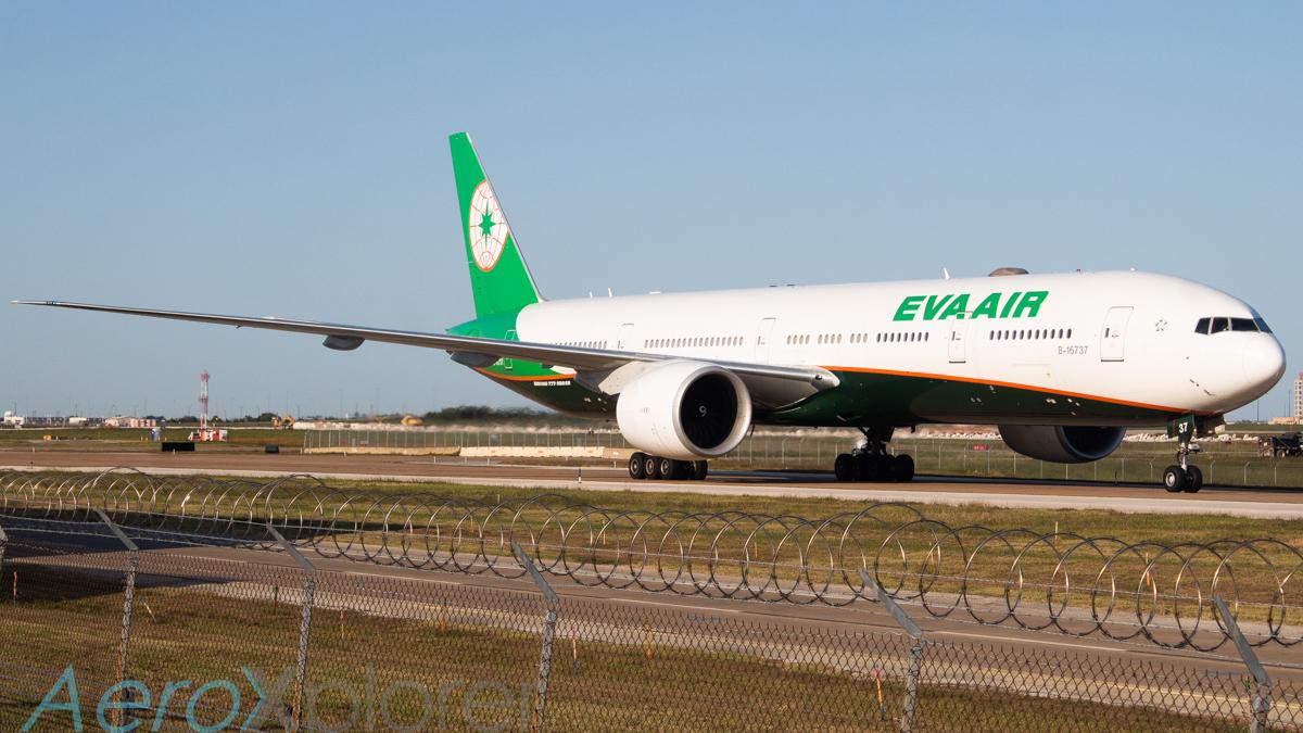 Photo of B-16737 - EVA Air Boeing 777-300ER at DFW