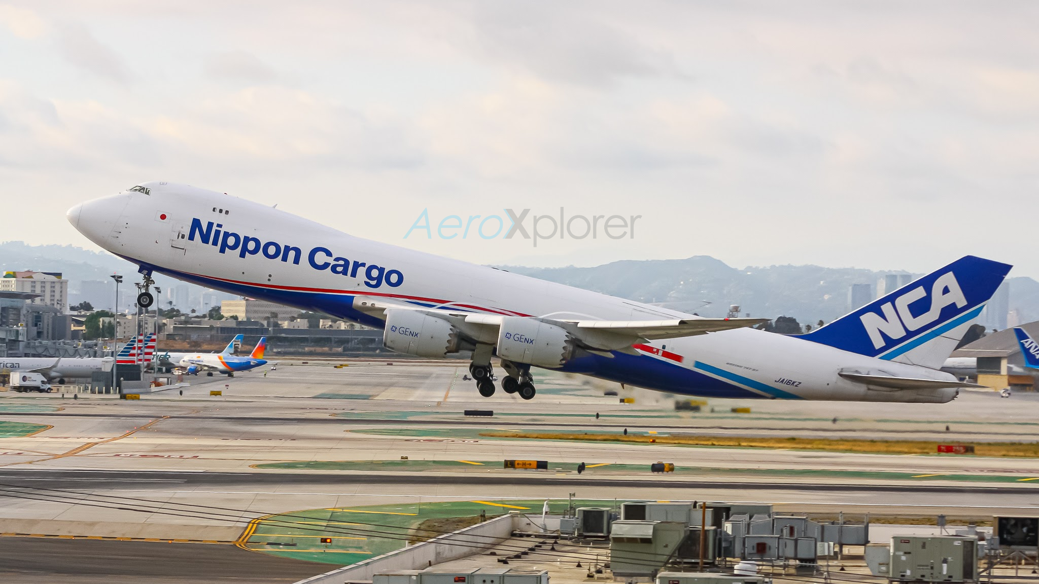 Photo of JA16KZ - Nippon Cargo Airlines Boeing 747-8F at LAX