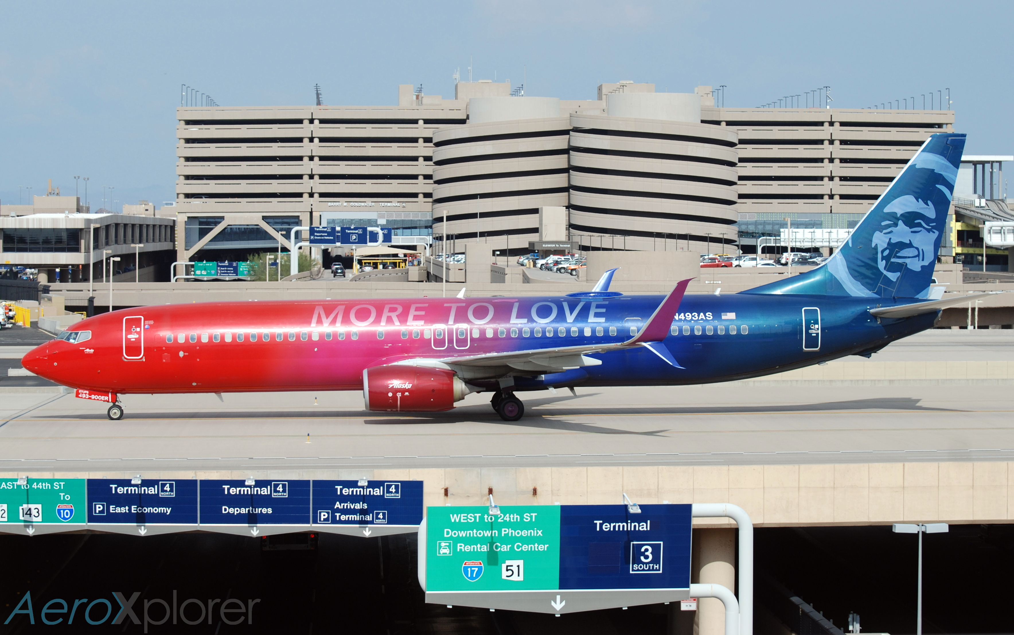 Photo of N493AS - Alaska Airlines Boeing 737-900ER at PHX
