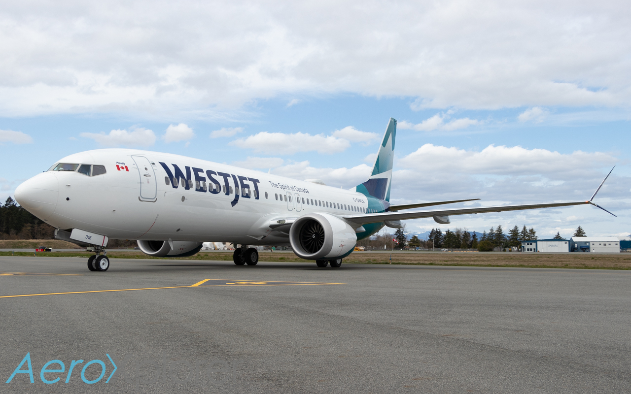 Photo of C-GWLK - WestJet Boeing 737 MAX 8 at YYJ