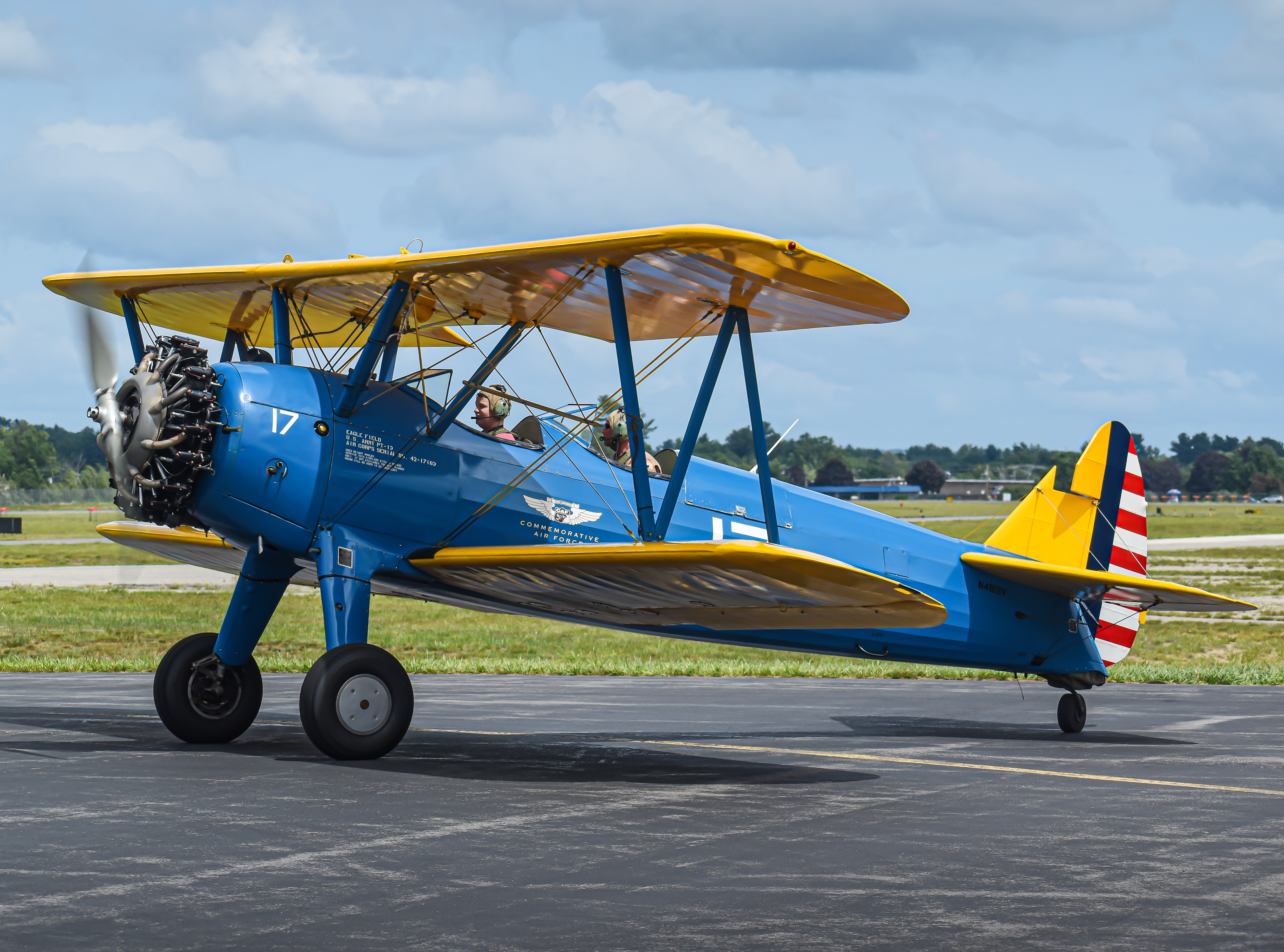 Photo of N4813Y - PRIVATE Boeing Stearman at ASH
